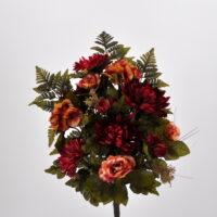 Bouquet fiori artificiali Virginia rosso