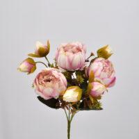 Bouquet fiori artificiali Peonia Queen rosa