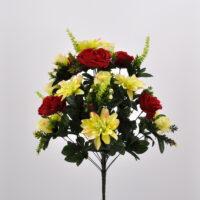 Bouquet Peonie e Dalie rosso