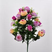 Bouquet Rose e Dalie fucsia