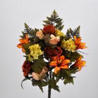 Bouquet fiori artificiali colombia arancio