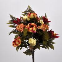 Bouquet fiori artificiali Colombia rosso