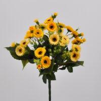 Bouquet fiori artificiali Angelica giallo