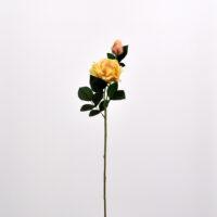 Fiore artificiale Rosa Dalì champagne