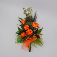 Bouquet fiori artificiali Bali arancio