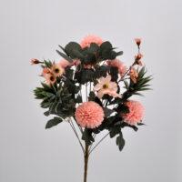 Bouquet Dalie e Succulenti rosa