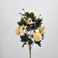 Bouquet Dalie e Succulenti bianco