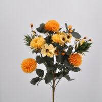 Bouquet Dalie e Succulenti giallo
