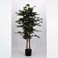 Pianta artificiale Ficus Benjamin verde 125