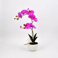 Pianta artificiale Orchidea Phalaenopsis Doris rosa