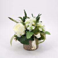 Composizioni di fiori artificiali Romantik bianca