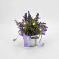 Composizione fiori artificiali lavanda