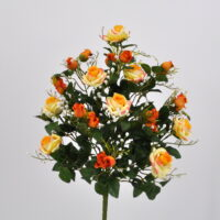 Bouquet fiori artificiali Armony arancio