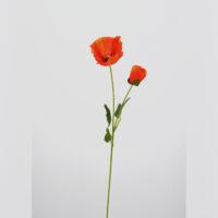 Fiore artificiale Papavero rustico arancio
