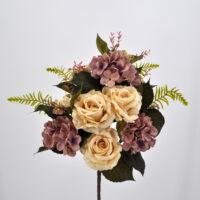 Bouquet fiori artificiali Rose country bianco