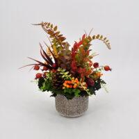 Composizione fiori artificiali Berries