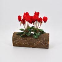 Mini Ciclamino artificiale rosso