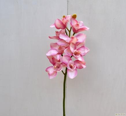 Fiore finto di orchidea cymbidium elegant rosa per for Orchidea finta