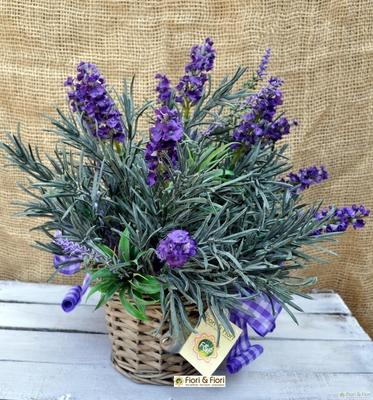 Composizione di fiori artificiali provenza maxi per for Composizioni fiori finti per arredamento