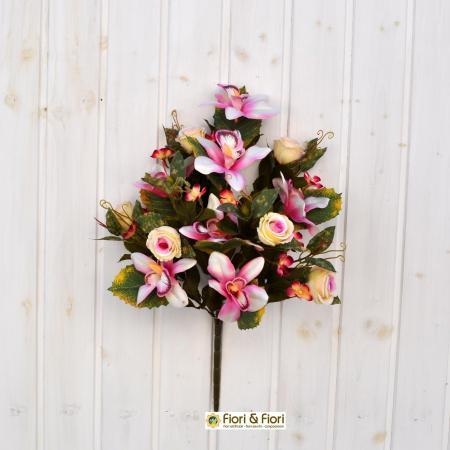 Bouquet fiori artificiali sophia salmone