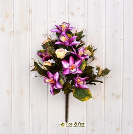 Bouquet fiori artificiali sophia fucsia