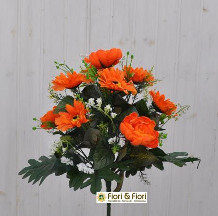 Bouquet fiori artificiali Mughetto arancio