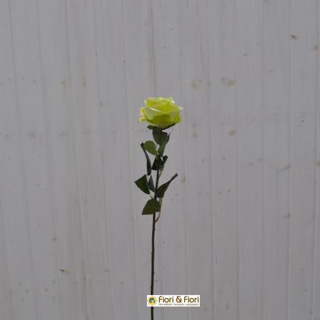 Fiore artificiale Rosa france verde
