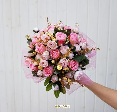 Bouquet da sposa rosa