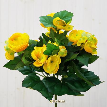 Begonia artificiale giallo