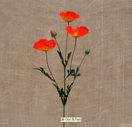fiore artificiale di papavero arancio