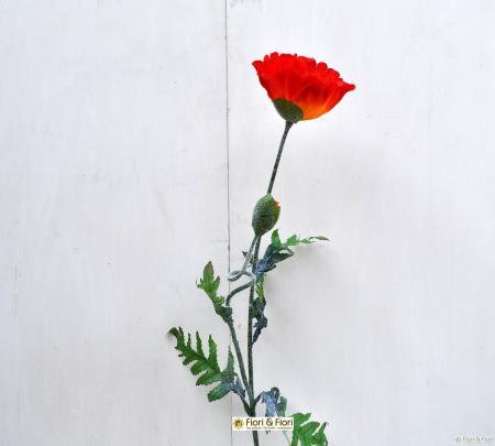 Fiore artificiale Papavero maxi arancio