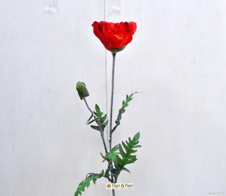Fiore artificiale Papavero maxi rosso
