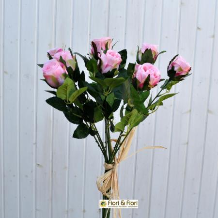 Rose artificiali rosa