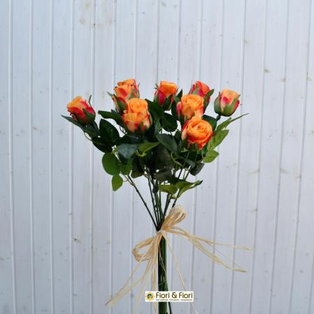 Rose artificiali arancio