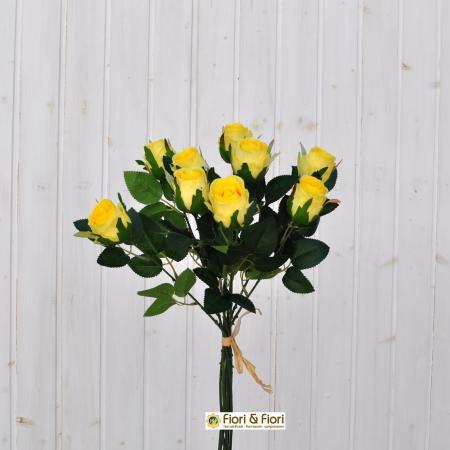 Rose artificiali gialle