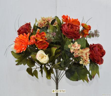 Bouquet fiori artificiali gerbera