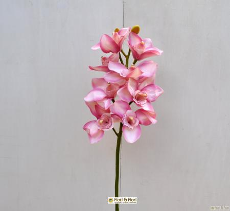 Orchidea artificiale cymbidium rosa