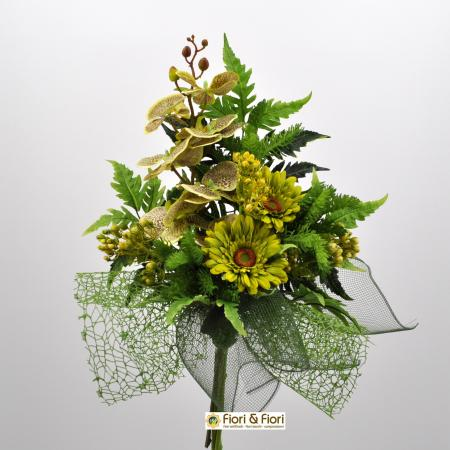 Bouquet fiori artificiali fresh verde