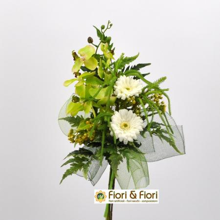 Bouquet fiori artificiali Fresh verde