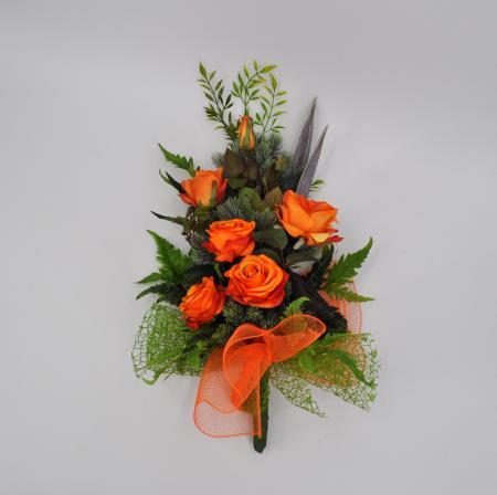 Bouquet fiori artificiali Bali arancio
