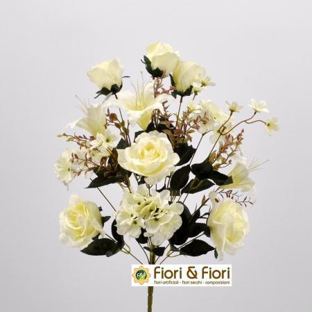 Bouquet fiori artificiali Giglio bianco