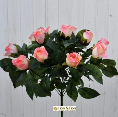 Bouquet fiori artificiali rose paris rosa