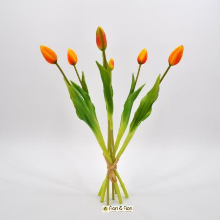 Tulipani artificiali lux arancio