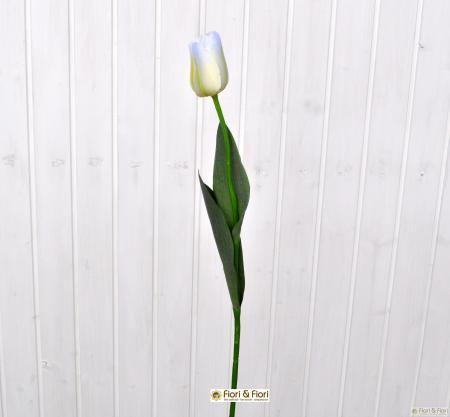 Fiore artificiale tulipano bianco