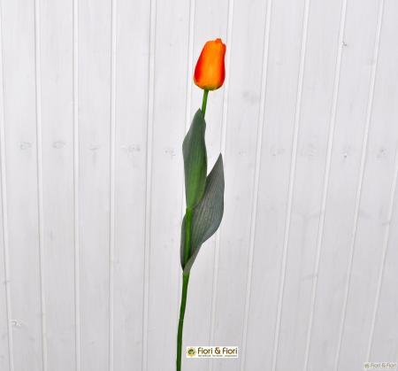 Fiore artificiale tulipano arancio