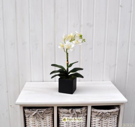 Pianta artificiale di phalaenopsis amabilis