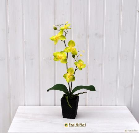 Pianta artificiale orchidea phalaenopsis vanda verde
