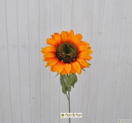 Fiore artificiale girasole summer maxi arancio