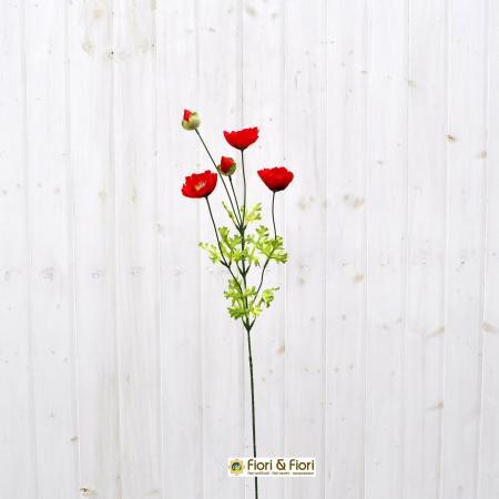 Fiore artificiale papavero rustico rosso