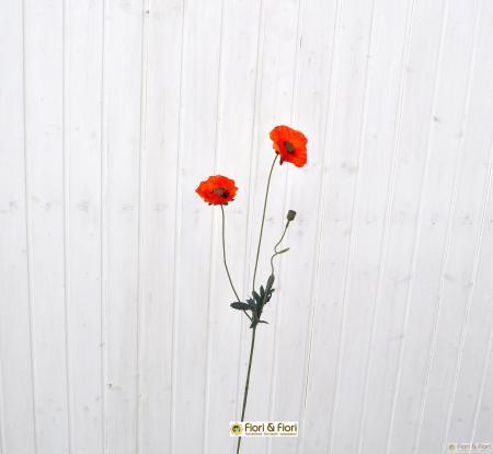 Fiore artificiale papavero rustico arancio for Aspetto rustico